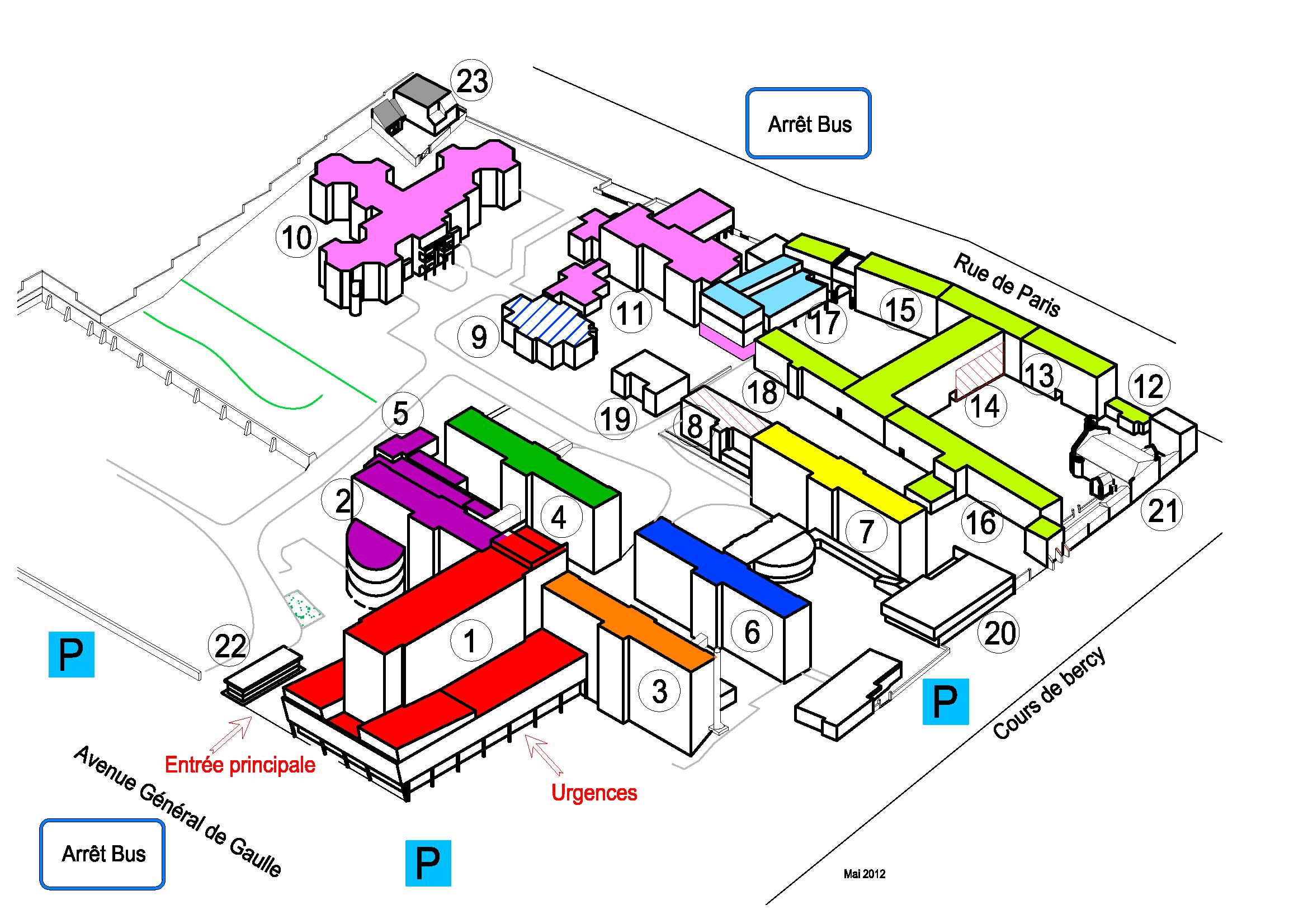 Plan du site ch moulins centre hospitalier de moulins yzeure for Plan de moulins